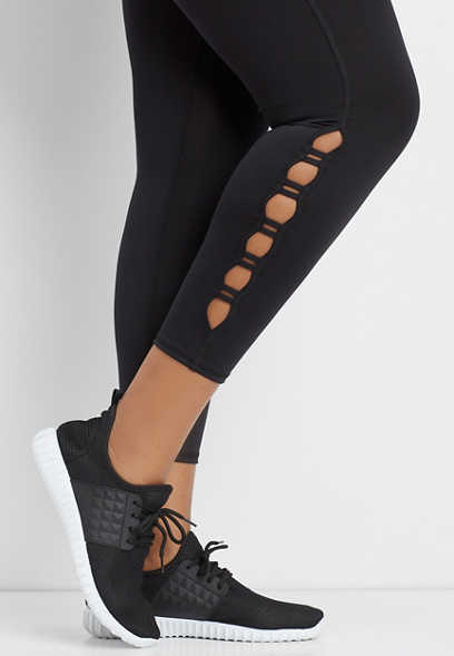 plus size cutout 7/8 active legging