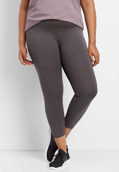 plus size gray super high rise 7/8 active legging