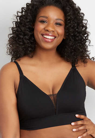 plus size seamless convertible strap lace bralettes