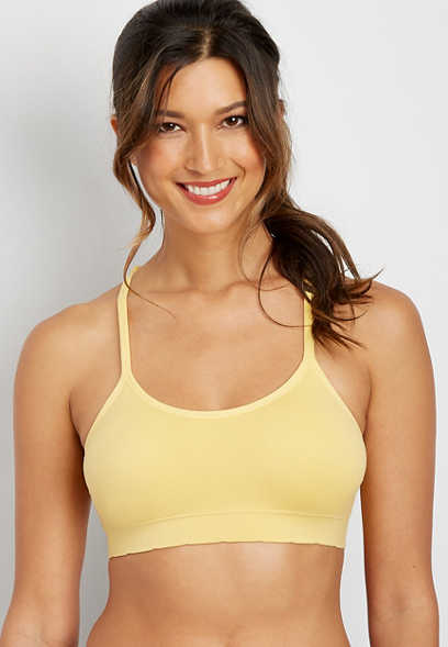 seamless crochet back bralette