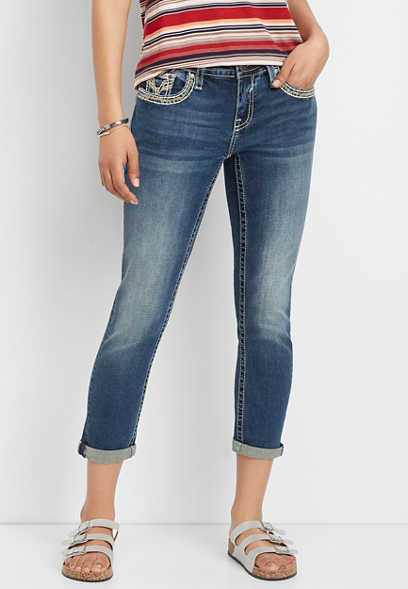 Vigoss® thick stitch boyfriend capri
