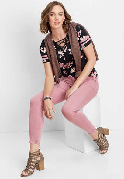 DenimFlex™ magenta smoke color jegging