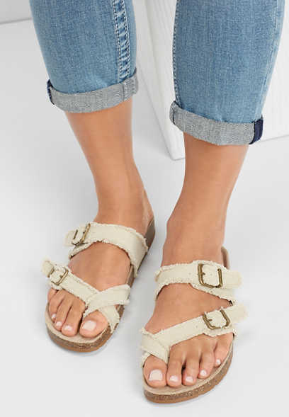 Amy raw edge molded footbed sandal ee2c4fbb61c8