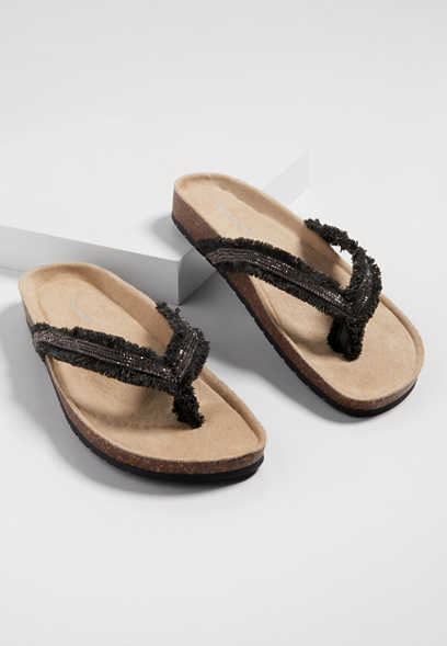Ally raw edge thong molded sandal