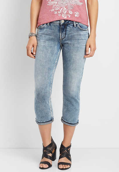 Silver Jeans Co.® Suki light wash capri
