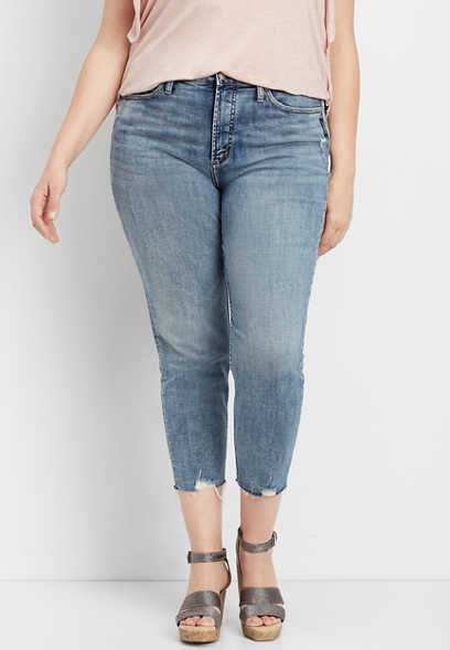 plus size Silver Jeans Co.® Calley skinny cropped jean