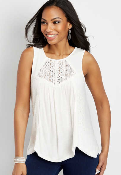 lace pieced tank