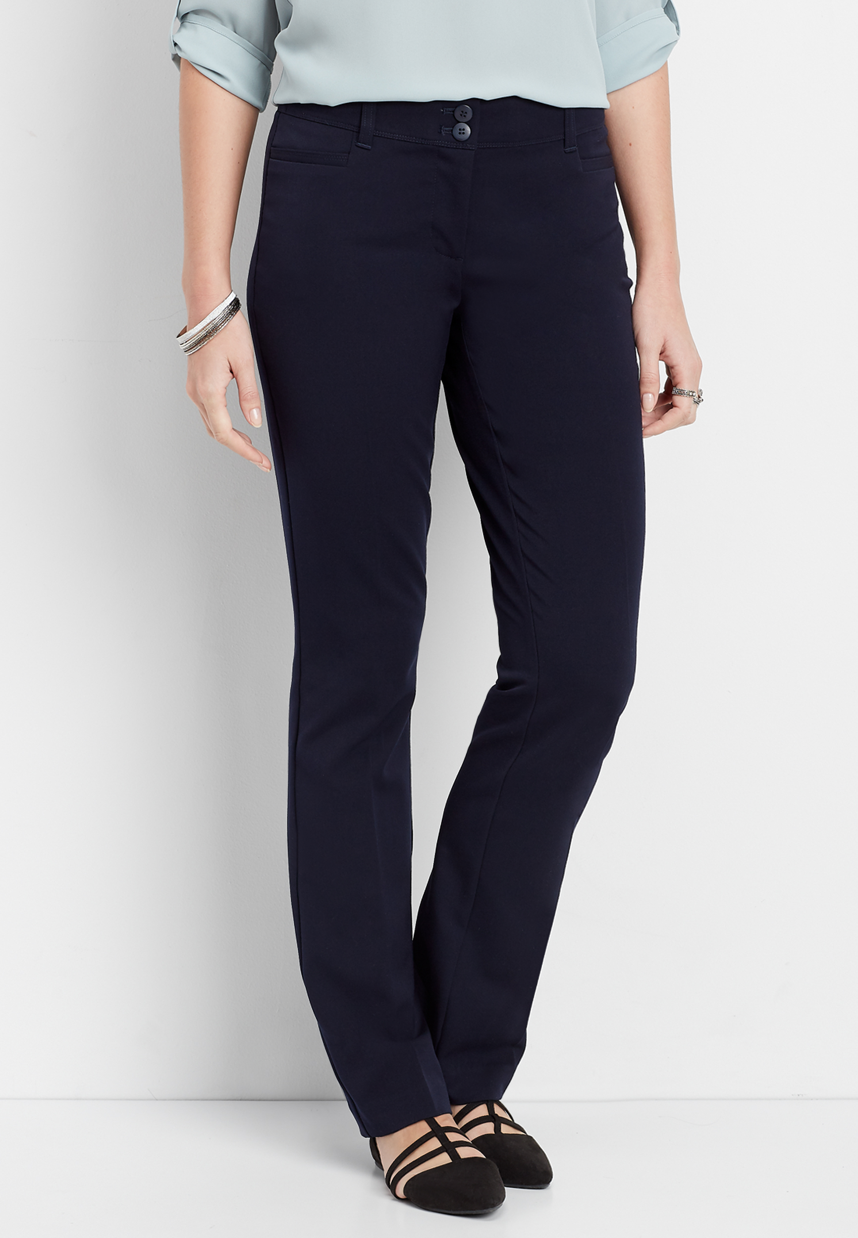 Navy Classic Bootcut Pant by Maurices