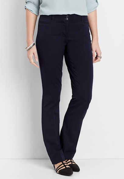 navy classic bootcut pant