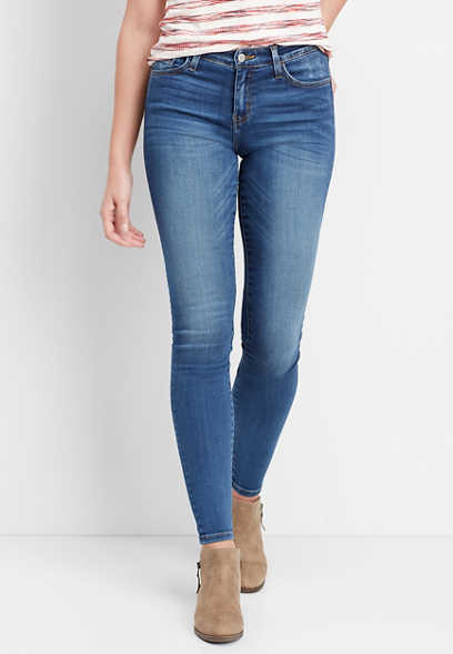 Flying Monkey™ mid rise super soft skinny jean