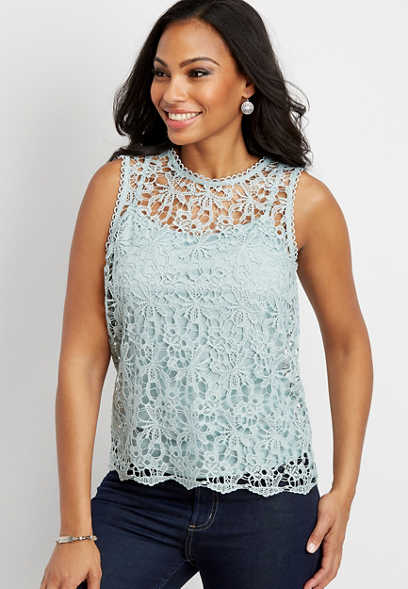 all over lace tank