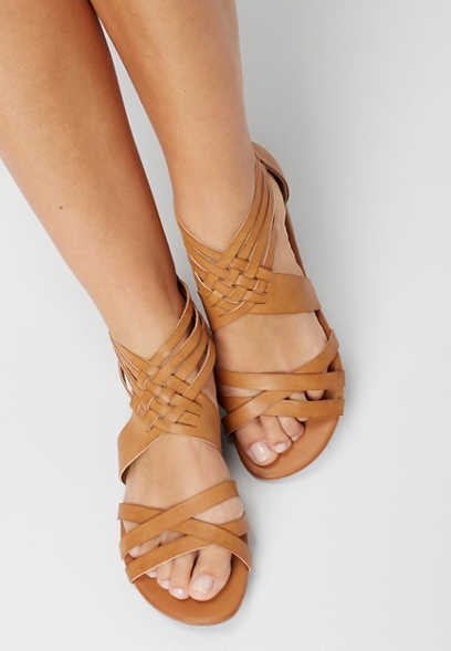 Andrea back zip gladiator sandal