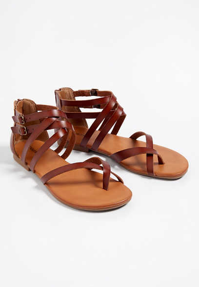 Alma cross strap gladiator sandal