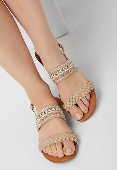 Anna embellished braid sandals