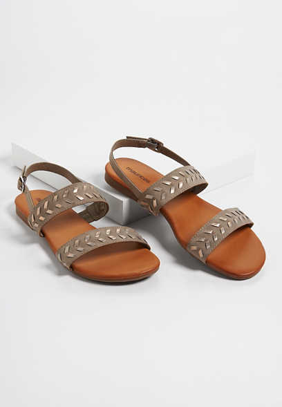 Aisly whipstitch shimmer sandals
