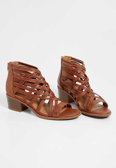 1c92cd2c96f8 Eliza woven multi strap heel