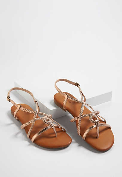 Adalyn braided slingback sandal