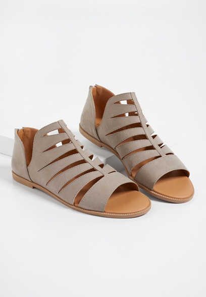 Adaline back zip gladiator sandal