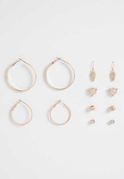 six piece assorted earring set