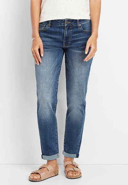 DenimFlex™ crosshatch boyfriend jean