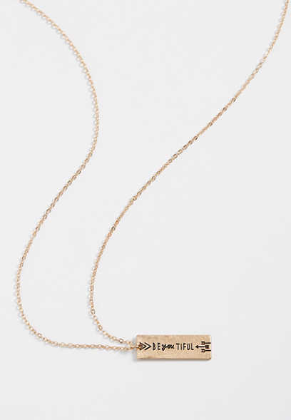 be-you-tiful pendant necklace