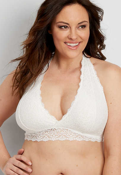 e9508b078cd9e plus size lace halter bralette