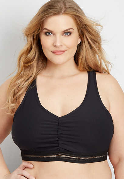 7e79090d17 plus size active twist back racerback bralette
