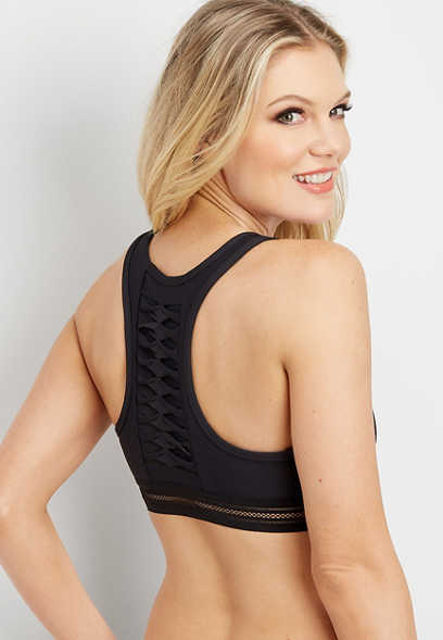 active twist back racerback bralette