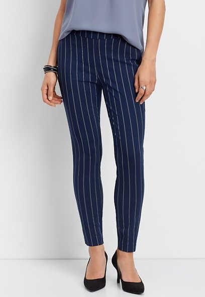 cadcb33d536 stripe print bengaline skinny ankle pant