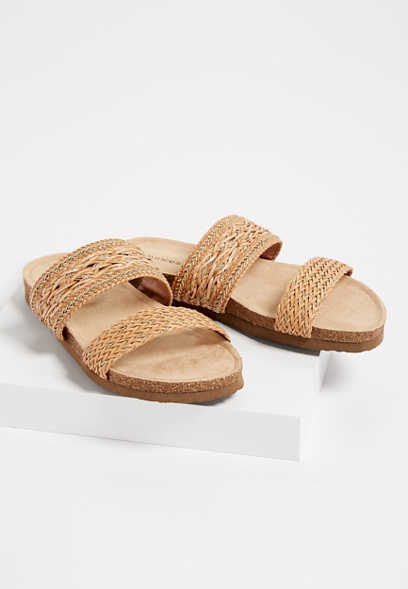 d4a1e4ca681 Aleena woven strap molded footbed sandal