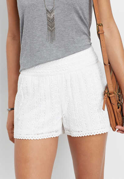 lace pull on short