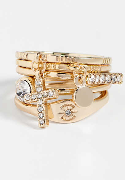 five piece cross ring set