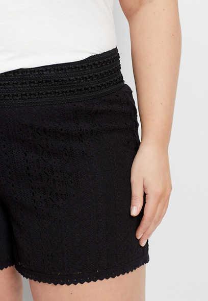 09c5490f39ac8 plus size black lace pull on 5
