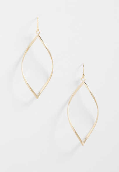 twisted gold earring