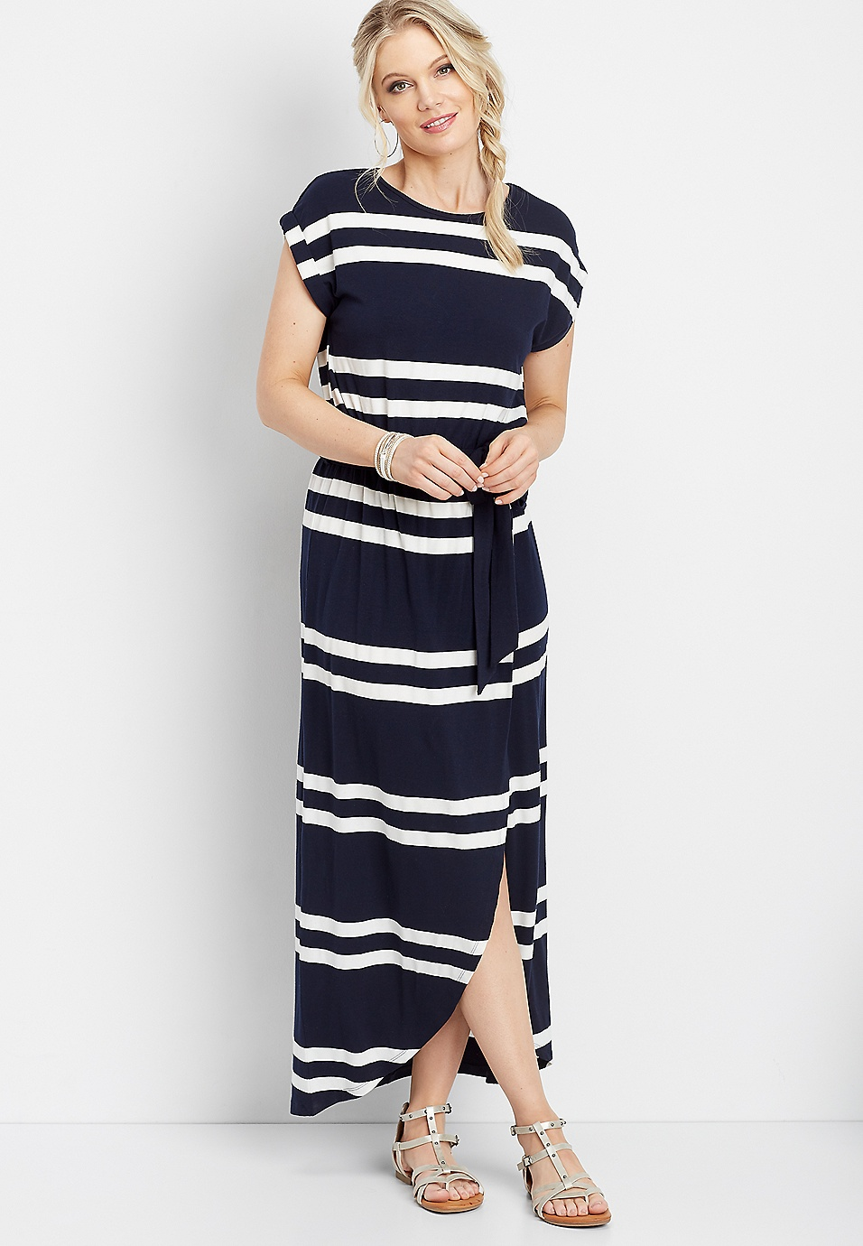 c1853c379a1 stripe print tulip maxi dress