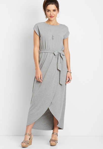 gray tulip maxi dress