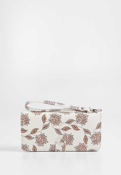 floral cell phone wristlet