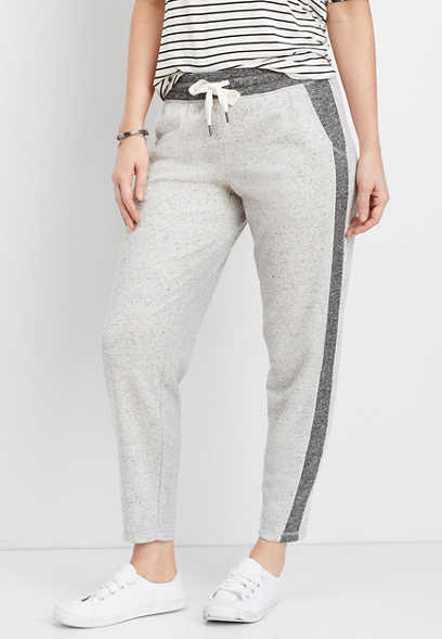 gray side stripe tonal jogger