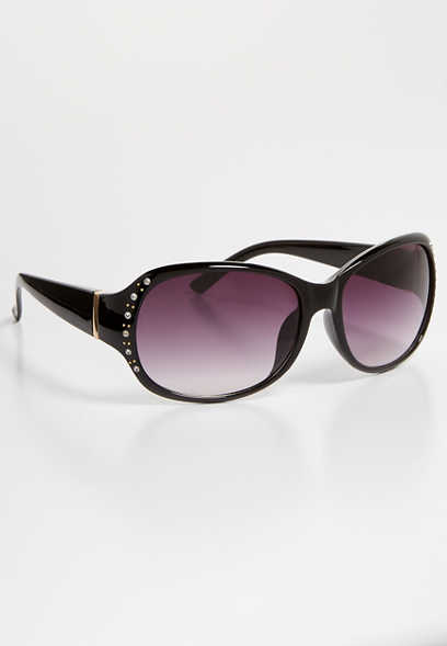 embellished solid plastic sunglasses