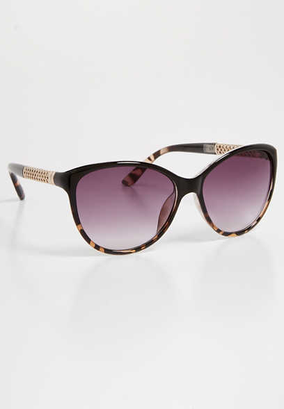 ombre braided cat eye sunglasses