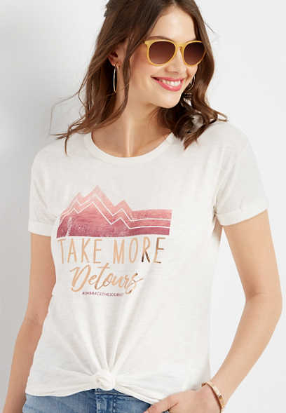 take more detours graphic tee