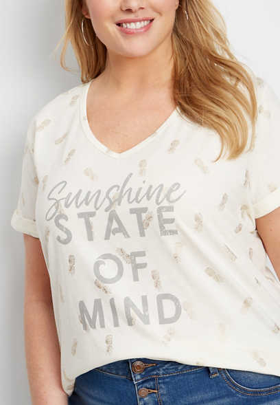 409cb99aec3c0 plus size sunshine state of mind graphic tee