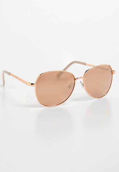 colored top edge metal sunglasses