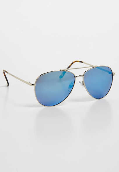colored lense aviator sunglasses