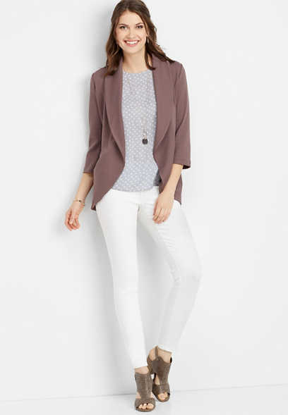 open front pocket blazer