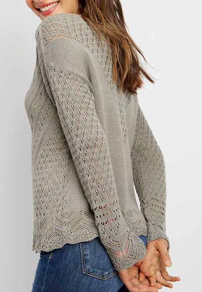 dbd2529f75 open stitch chevron sweater