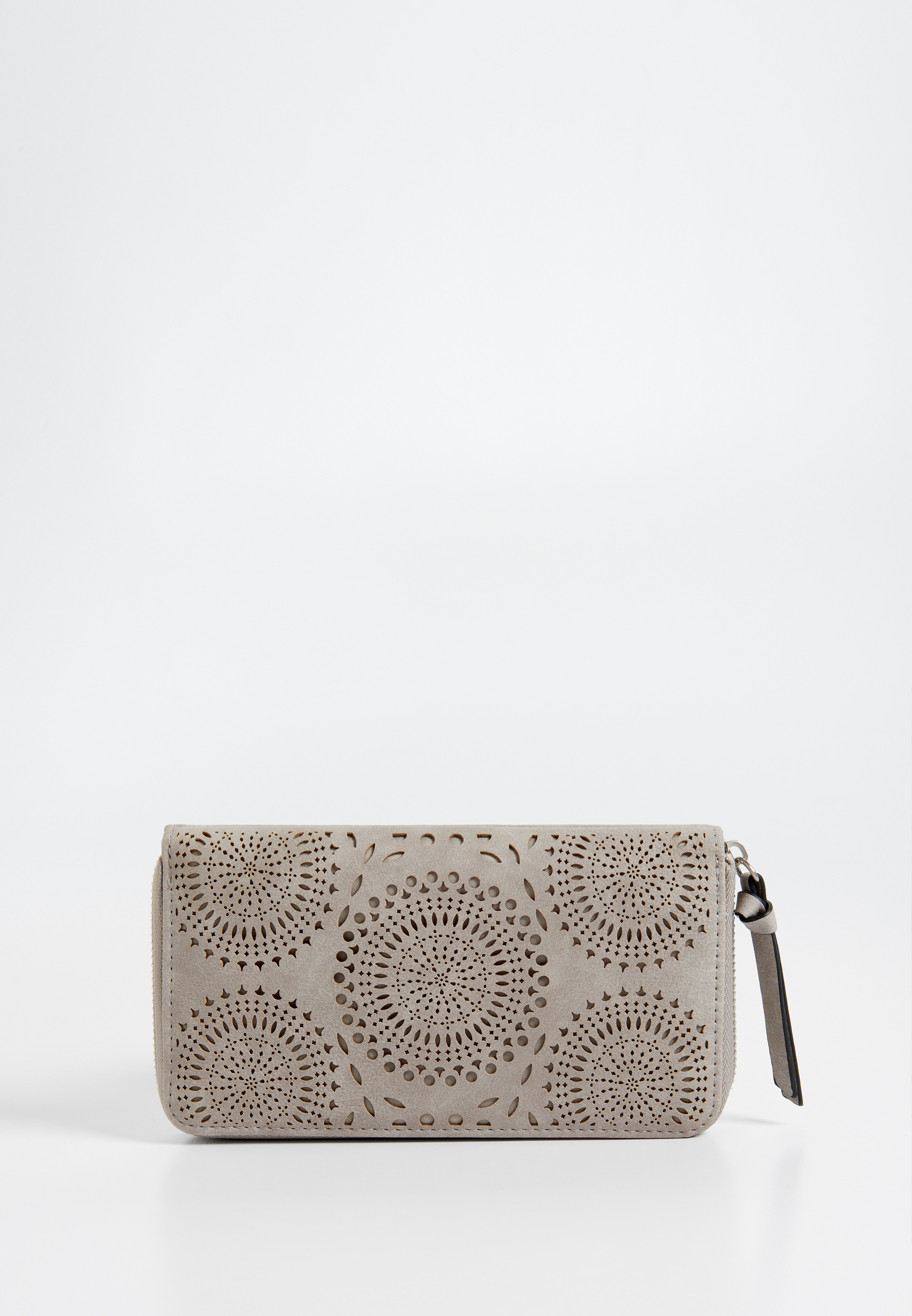 Laser Cut Faux Leather Zip Around Wallet by Maurices