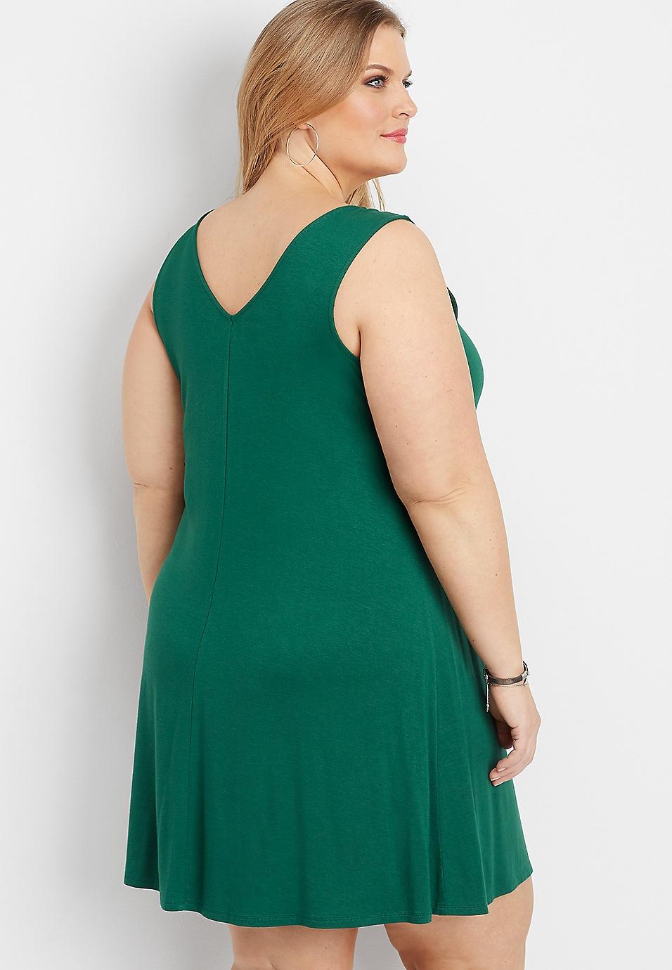 fef65150b02 plus size 24 7 lattice neck swing dress