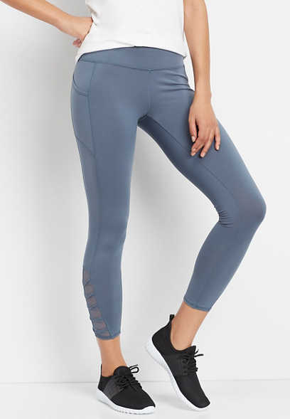 twisted mesh side 7/8 active legging