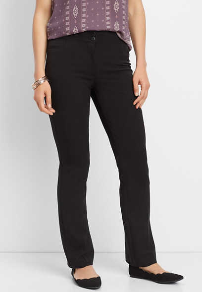 high rise classic bootcut pant